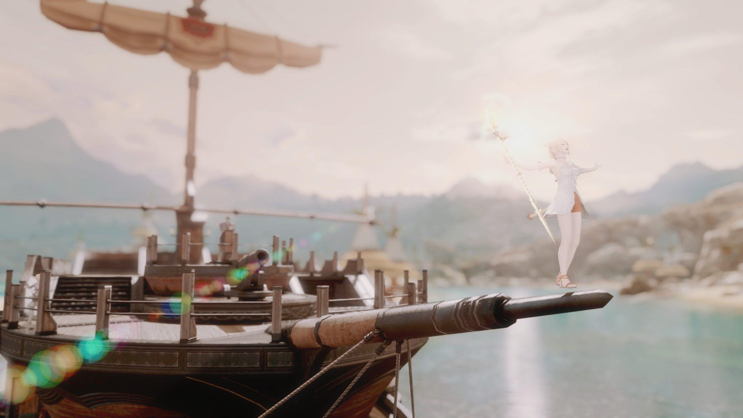 コスタの大型船の船首